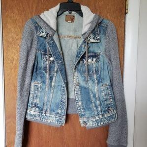 American Eagle Sweatshirt Jean Jacket, Sz M